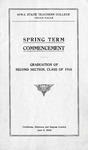 Spring Term Commencement [Program], June 6, 1918
