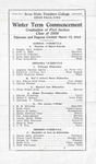 Winter Term Commencement [Program], March 12, 1918