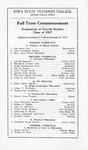 Fall Term Commencement [Program], December 4, 1917