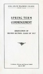 Spring Term Commencement [Program], June 5, 1917