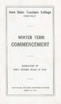 Winter Term Commencement [Program], March 14, 1916
