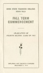Fall Term Commencement [Program], December 7, 1915