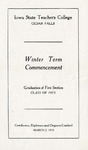 Winter Term Commencement [Program], March 2, 1915
