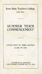 Summer Term Commencement [Program], July 24, 1914
