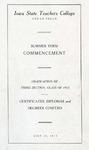 Summer Term Commencement [Program], July 25, 1913