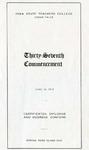 Spring Term Commencement [Program], June 10, 1913