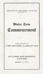 Winter Term Commencement [Program], March 11, 1913