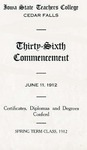 Spring Term Commencement [Program], June 11, 1912