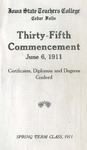 Spring Term Commencement [Program], June 6, 1911