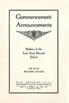 Commencement Announcements, May 1909