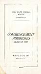 Commencement Addresses, June 12, 1907