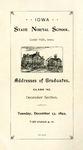 Addresses of Graduates, Class '92, December Section, December 13, 1892