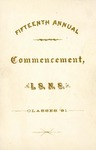 Fifteenth Annual Commencement, 1891