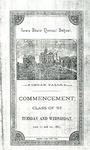 Commencement, June 21-22, 1887