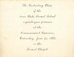 Commencement Exercises, June 30, 1886