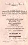 [Commencement] Announcement, 1881
