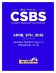 Twenty Third Annual CSBS Student Research Conference [Program] April 9, 2016