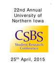 Twenty Second Annual CSBS Student Research Conference [Program] April 25, 2015