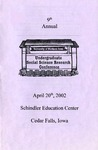 9th Annual Undergraduate Social Science Research Conference [Program] April 20, 2002