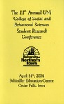 Eleventh Annual CSBS Student Research Conference {Program] April 24, 2004