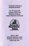 Fourteenth Annual CSBS Student Research Conference Program, April 21, 2007