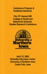 Fifteenth Annual CSBS Student Research Conference Program, April 12, 2008