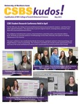 CSBS Kudos, May 2013 by University of Northern Iowa. College of Social and Behavioral Sciences.