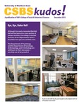 CSBS Kudos, December 2013 by University of Northern Iowa. College of Social and Behavioral Sciences.