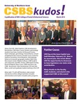 CSBS Kudos, March 2014 by University of Northern Iowa. College of Social and Behavioral Sciences.