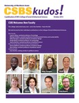 CSBS Kudos, October 2014 by University of Northern Iowa. College of Social and Behavioral Sciences.