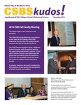 CSBS Kudos, December 2014 by University of Northern Iowa. College of Social and Behavioral Sciences.