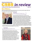 CSBS Kudos, April 2015 by University of Northern Iowa. College of Social and Behavioral Sciences.