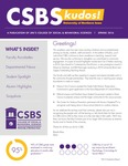 CSBS Kudos, Spring 2016 by University of Northern Iowa. College of Social and Behavioral Sciences.