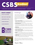 CSBS Kudos, Fall 2018 by University of Northern Iowa. College of Social and Behavioral Sciences.