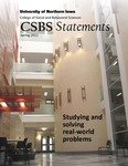 CSBS Statements, v13, Spring 2011 by University of Northern Iowa. College of Social and Behavioral Sciences.