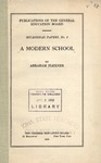 A Modern School by Abraham Flexner