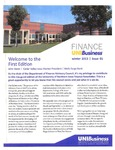 Department of Finance Newsletter, n01, Winter 2013