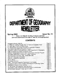 Geography Newsletter, Spring 2005 by University of Northern Iowa. Department of Geography.