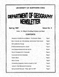 Geography Newsletter, Spring 1997 by University of Northern Iowa. Department of Geography.