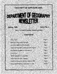 Geography Newsletter, Spring 1998 by University of Northern Iowa. Department of Geography.