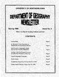 Geography Newsletter, Spring 1999 by University of Northern Iowa. Department of Geography.