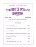 Geography Newsletter, Spring 2000 by University of Northern Iowa. Department of Geography.