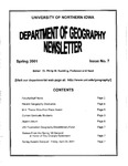 Geography Newsletter, Spring 2001 by University of Northern Iowa. Department of Geography.