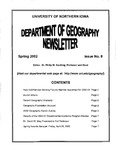 Geography Newsletter, Spring 2002 by University of Northern Iowa. Department of Geography.