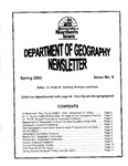 Geography Newsletter, Spring 2003 by University of Northern Iowa. Department of Geography.