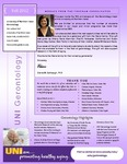 Gerontology Newsletter, Fall 2012