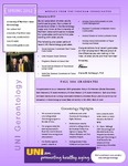 Gerontology Newsletter, Spring 2012