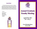 Annual Graduate Faculty Meeting [Program], April 27, 2017 by University of Northern Iowa. Graduate College.