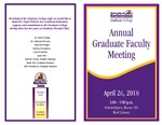 Annual Graduate Faculty Meeting [Program], April 26, 2018