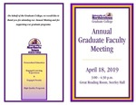 Annual Graduate Faculty Meeting [Program], April 18, 2019 by University of Northern Iowa. Graduate College.